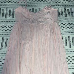 Boho chic maternity dress